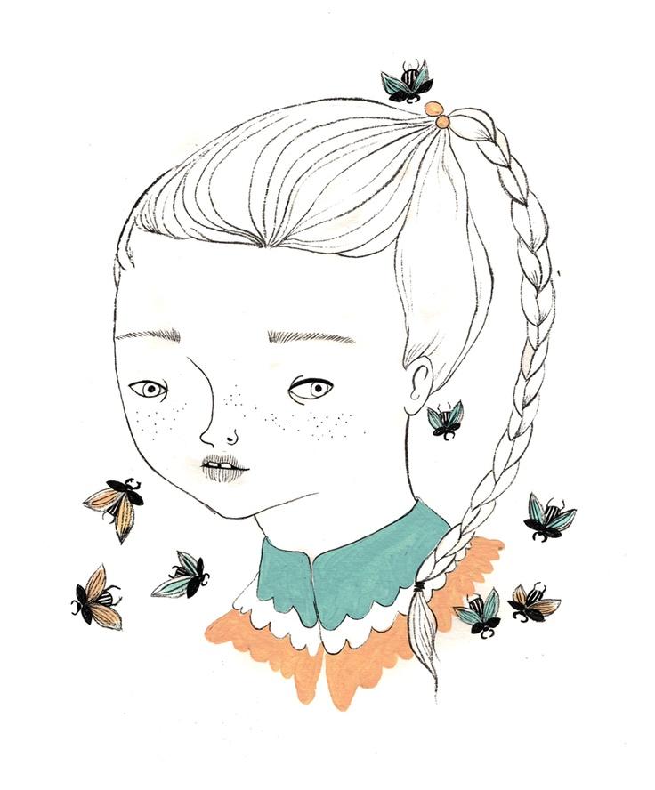 Spring with Beetle Primavera con escarabajos By Coco Escribano