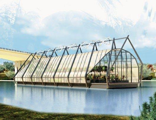 """Vida-EcoVerde : Invernadero flotante que descontamina los ríos """"Th..."""