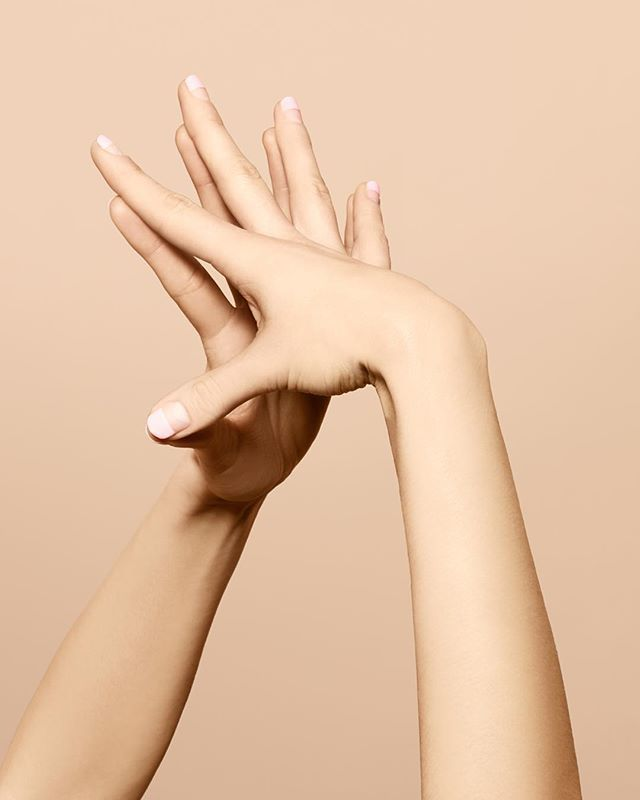 Today on The Line: @jinsoonchoi on the feminine finishing touch of an artful yet simple manicure. (Photo by Marius W. Hansen, nails by @nataliepavloskinails) @jinsoon #powercoat #dollypink
