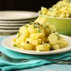 Danish Potato Salad- Light and Tangy. Perfect with any BBQ