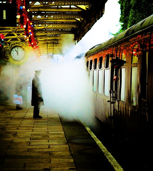 British rail station. Love the colors and movement in this picture.
