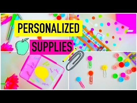 DIY PERSONALIZED SCHOOL SUPPLIES! | How to: Turn Your Boring Supplies Into Cute Ones! - YouTube