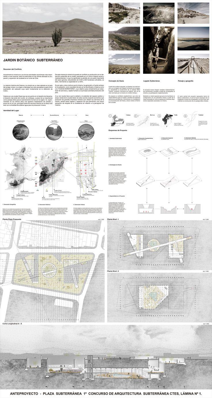 Galería de Jardín Botánico de Calama, Primer Lugar en Concurso de Arquitectura Subterránea CTES 2014 / Chile - 6