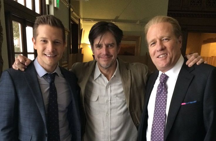 Matt Czuchry, Daniel Palladino and Gregg Henry on set of Gilmore Girls: Seasons