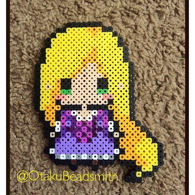 Rapunzel perler beads by otakubeadsmith (Original design by tsubasa.yamashita)