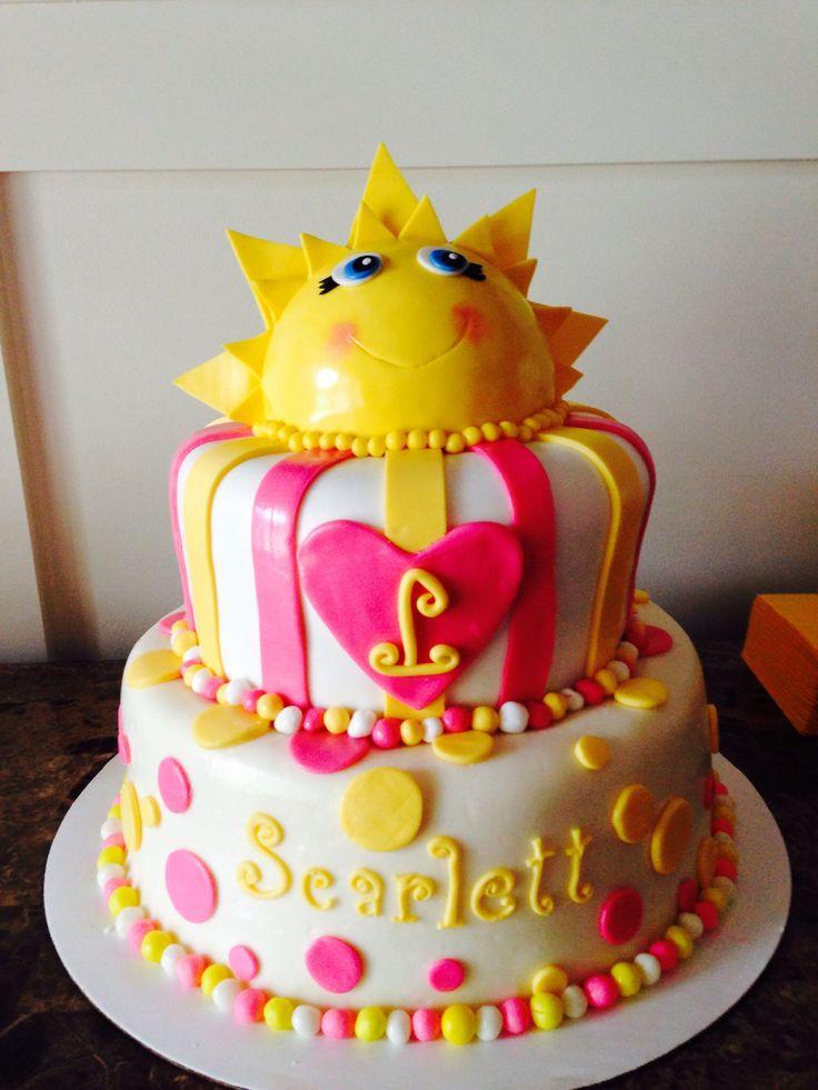 year birthday invitatiowordingiindiastyle%0A You Are My Sunshine first birthday cake