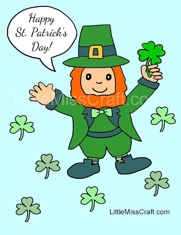 Happy St Patricks Day Coloring Page Ready To Print At