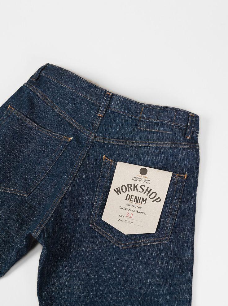 Universal Works Workshop Denim Regular Fit Jeans in Indigo Slub Selvedge Denim | Universal Works