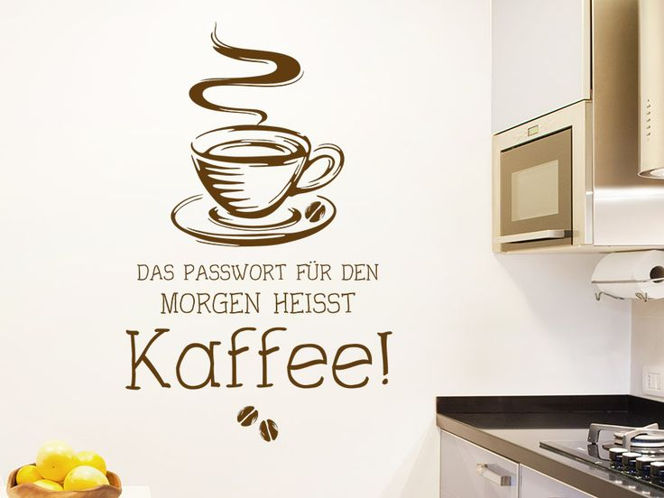 95 best Kreative Wandtattoo Sprüche images on Pinterest - wandtattoo küche kaffee