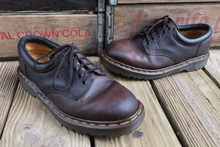 """DR MARTENS """"DOCs"""" Brown Leather Oxfords Shoes Women's UK 7 US 9 #8053 #DrMartens #Oxfords #Casual"""