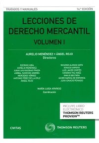 Lecciones de derecho mercantil.     14ª ed.     Civitas Thomson Reuters, 2016