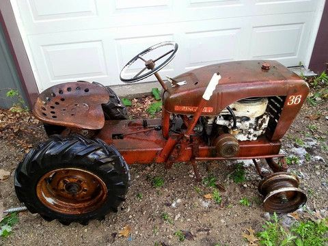 1960s Springfield Tractor withone row garden plow for sale ( model 36 – ExpressSalesvp.com