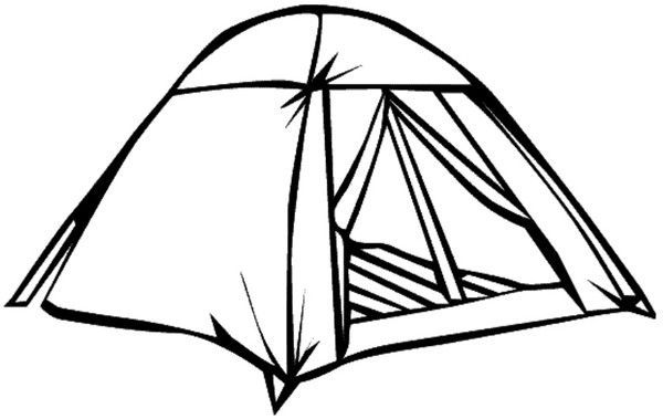 Gabarit Tente Pour Tableau Au Camping Campingtentsillustration Tent Drawing Free Clip Art Camping Drawing