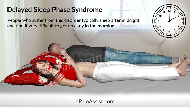 Delayed Sleep Phase Syndrome (DSPS or DSPD) Read: http://www.epainassist.com/brain/delayed-sleep-phase-syndrome-or-dsps-or-dspd