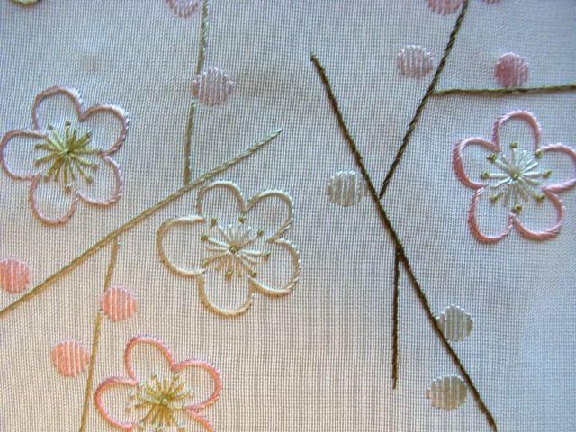 半襟 刺繍 梅 - Google 検索