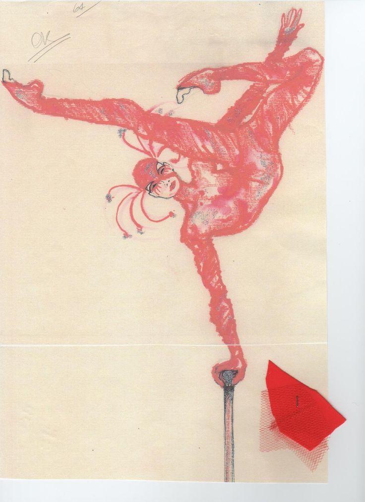 Schizzo per la contorsionista, Circus La Rosa Mannequins