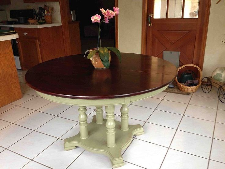 Refinishing a dining room table mom dining room tables for Refinished dining room table