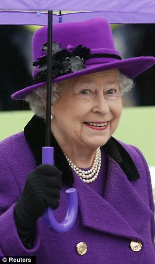 Britain's Queen Elizabeth arrives at Jubilee Gardens in London October 25, 2012 #ghdcandy #violet,