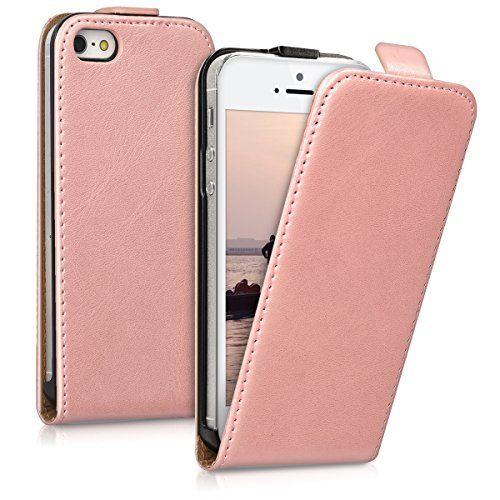 kwmobile Funda para Apple iPhone SE / 5 / 5S - Flip Case para móvil en cuero sintético - Cover plegable oro rosa - http://www.tiendasmoviles.net/2017/11/kwmobile-funda-para-apple-iphone-se-5-5s-flip-case-para-movil-en-cuero-sintetico-cover-plegable-oro-rosa/
