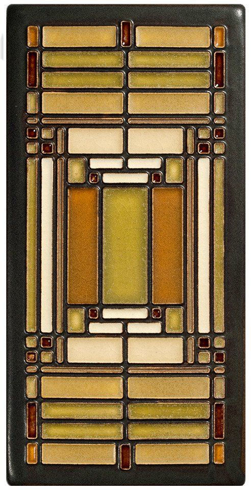 This tile is adapted from a detail of an art glass window Wright designed for his Home and Studio in Oak Park, Illinois.