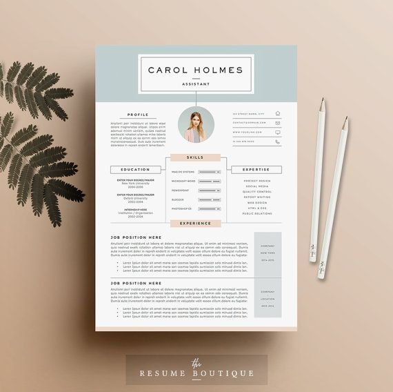 """4 page Resume Template and Cover Letter + References Template for Word 