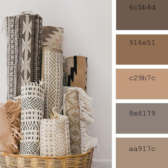 Paletas de colores neutros: fibras naturales #pantone #iced #coffee