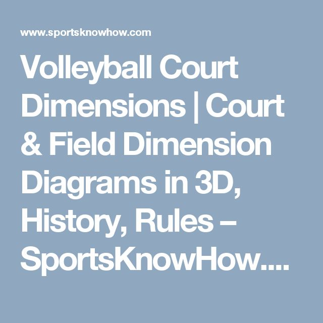 Volleyball Court Dimensions | Court & Field Dimension Diagrams in 3D, History, Rules – SportsKnowHow.com