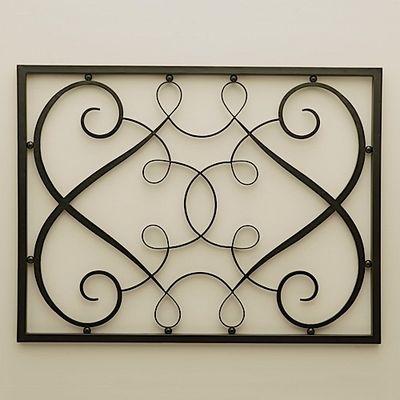 Wrought Iron Wall Panels | Home > Longoria Iron Rectangle Wall Panel