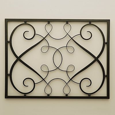 Wrought iron wall panels home longoria iron rectangle wall panel great ideas pinterest - Wrought iron decorative wall panels ...