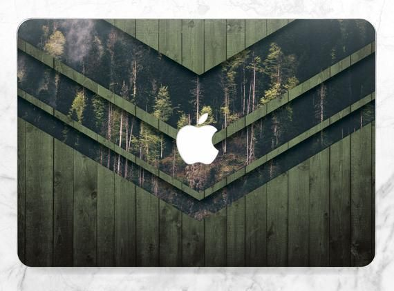 Wood Macbook case Nature Forest Men Macbook Pro Retina 13 inch Pro 15 inch 2018 Green Wooden Macbook