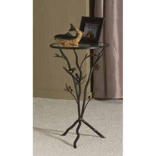 @Overstock.com   U0027Glass Birdu0027 Metal End Table   Add A Unique