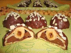 cupolette di frolla con nutella e nocciola