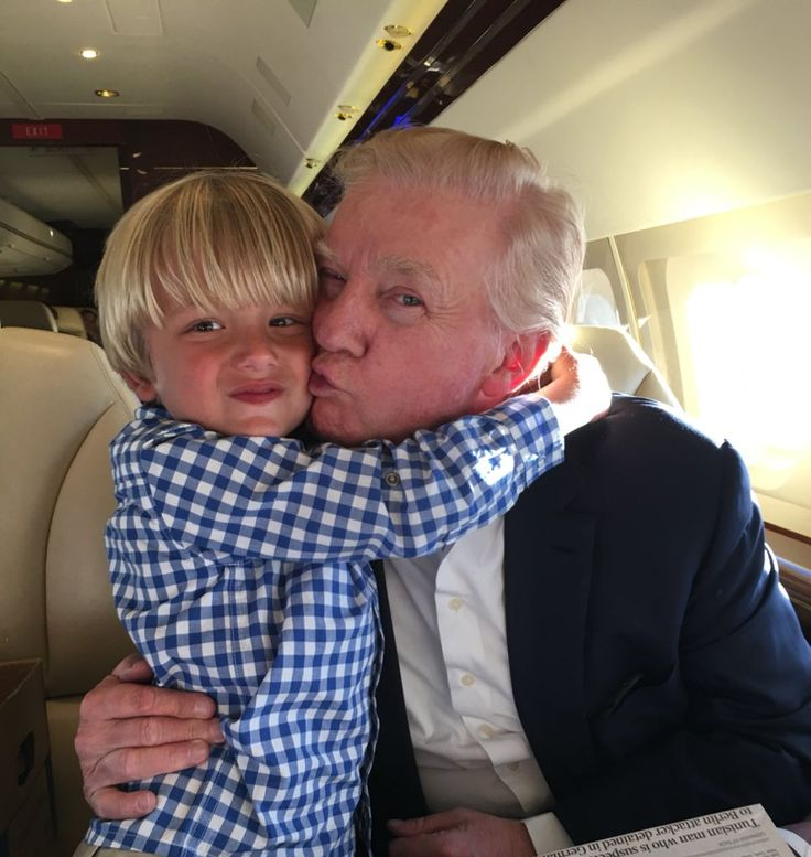 Grandpa Donald Trump and Tristan aka T-man on the ride back from Florida this past Sunday Donald Trump Jr. (@DonaldJTrumpJr) | Twitter