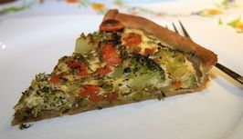 Zeleninový koláč s brokolicí, karotkou a hráškem /Vegetable cake with broccoli, carrot and peas/ Zdravé, nízkosacharidové, bezlepkové recepty. (Healthy, low carb, gluten free recipes.)