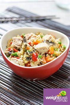 Tuna Fried Rice. #HealthyRecipes #DietRecipes #WeightLossRecipes weightloss.com.au