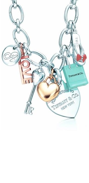 tiffany jewelry for women jewelry for love jewelry Charm bracelet #tiffany - not this exact one of course #jewelry #jewellery