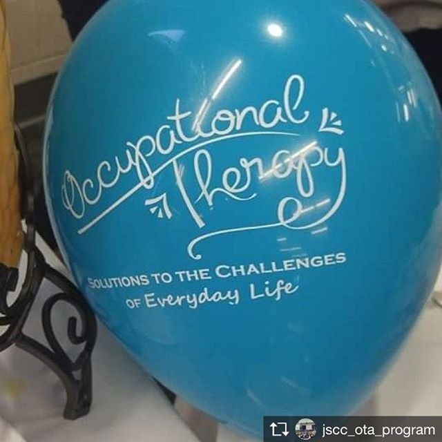 When looking to decorate for OT month, balloons are one of the easiest (and most festive!) options! Thanks to @jscc_ota_program for sharing. #occupationaltherapy #ot #OTdecoration #occupationaltherapist