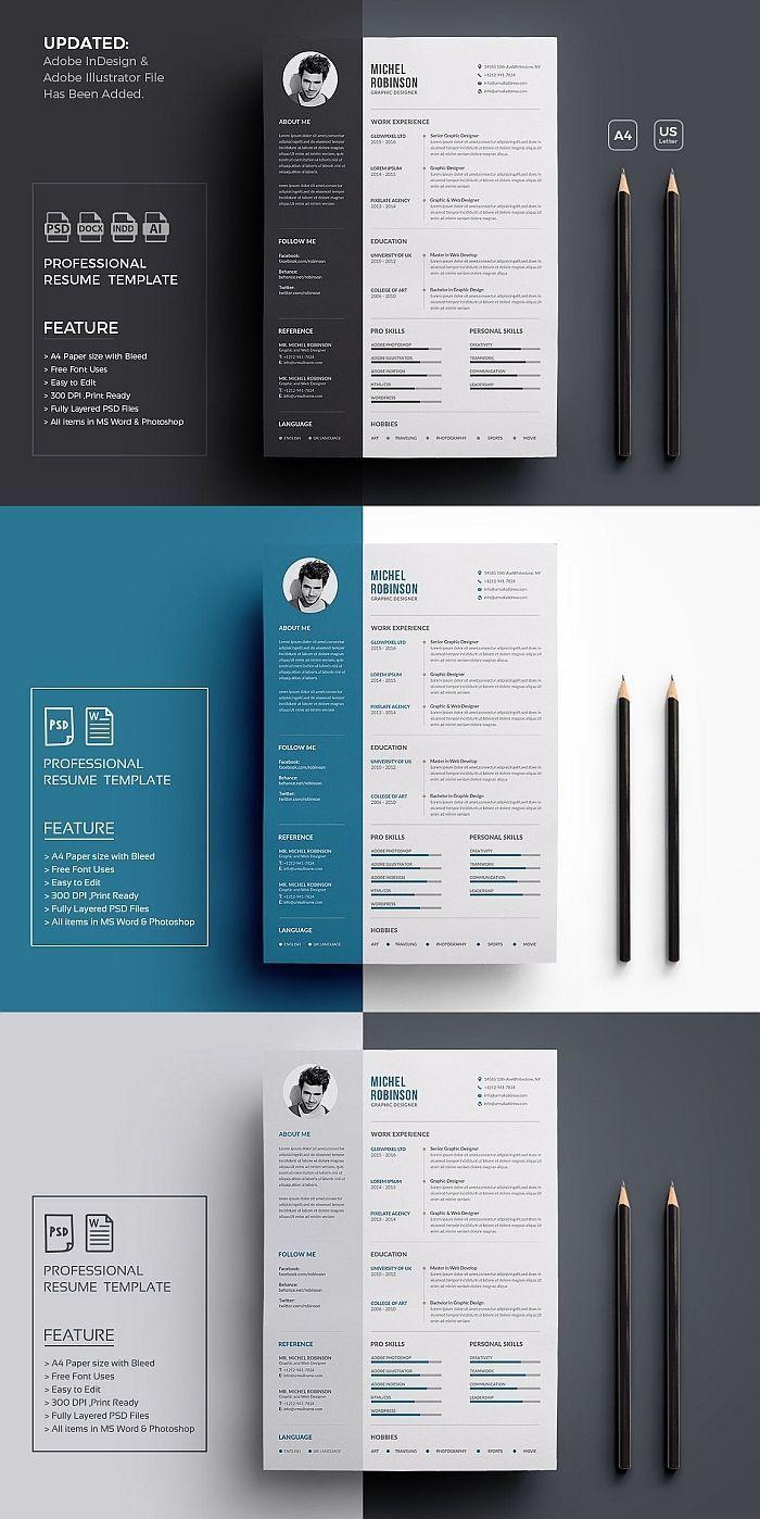 Resume Cv Graphic Design Resume Minimalist Resume Template Resume Design Template