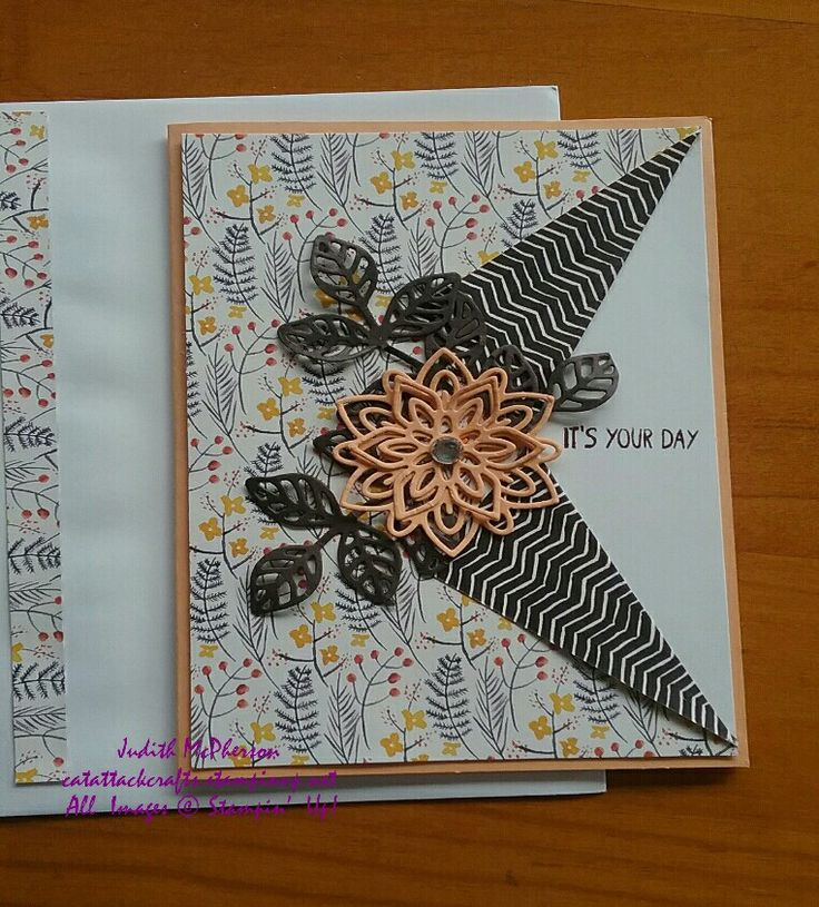 Peek a boo Birthday Card using  Painted Autumn  DSP, Flourish  Thinlits  Dies, Peekaboo Peach CS, Early Espresso CS, Very Vanilla CS