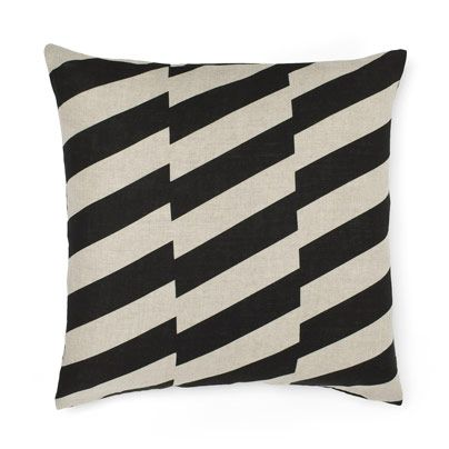 Staggered cushion in Black 50cm