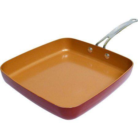 Red Copper Square Pan, Bronze