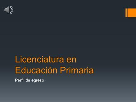 Licenciatura en Educación Primaria>