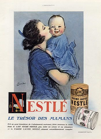 Nestlé (Chocolates) 1928 William Barribal, Baby Vintage advert - Food illustrated by William H. Barribal |