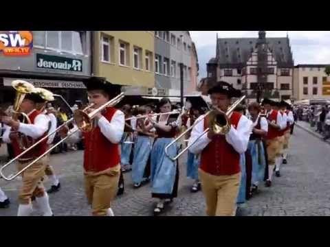 Volksfest Schweinfurt 2014 Der Festumzug - YouTube