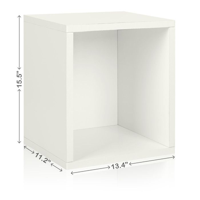 "Way Basics Stackable 15.5"" Storage Cube & Reviews 