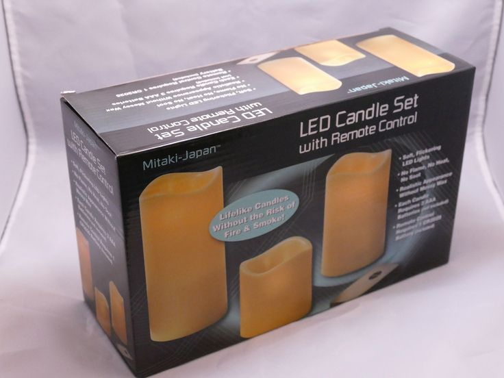 $19.95 OBO Flameless Remote Control Candles Set of 3 LED Lights Battery Operated http://www.bonanza.com/listings/359467969