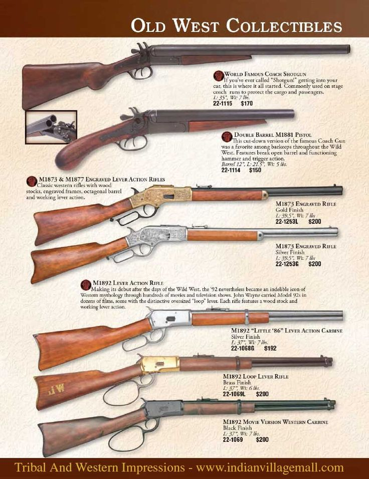 Old West Museum Quality Rifle Collections from Tribal And Western Impressions- Start Reviewing The Old West Armory Collection off of: http://www.indianvillagemall.com/oldwestguncollections.html