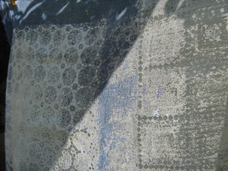 decorazioni in cemento e resina su garza
