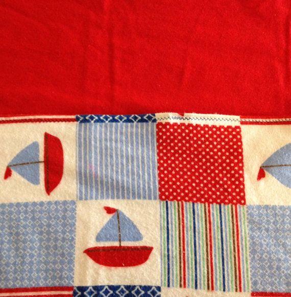 Flannel blanket XL size in nautical pattern by BlessingsandBabies