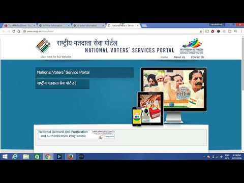 How to apply online voter card : Tutorials
